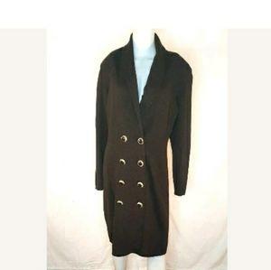ST John Marie Gray Brown Button Shift dress Size 1